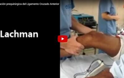 Examen de Rodilla pre-quirúrgico bajo anestesia general