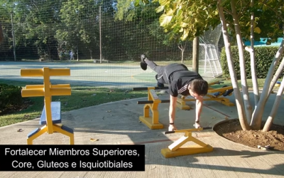 Rehabilitación Rodilla en Gimnasio de parque